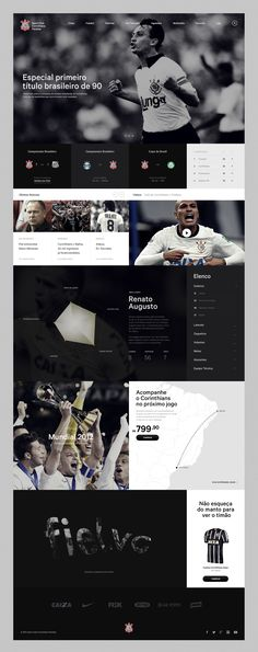 Corinthians - Danilo Campos — Designer & Art Director #webdesign #website #inspiration #layout