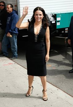 Pin for Later: See the Stars Who Stepped Out For David Letterman's Final Show! Julia Louis-Dreyfus