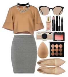 """""""Last"""" by gold-sands ❤ liked on Polyvore featuring The Fifth Label, Miss Selfridge, Charlotte Olympia, beautyblender, MAC Cosmetics, Kate Spade, Balenciaga, Elizabeth Arden, Bobbi Brown Cosmetics and Gucci"""