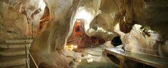 Cueva del Tesoro, en Rincón de la Victoria, Malaga.   Es una de las pocas cuevas donde la mezcla de aguas dulces y saladas del cercano Mediterráneo ha creado un espectacular laberinto de formas subterráneas.   Está vinculada a múltiples leyendas relacionadas con un supuesto tesoro que se creía escondido en su interior.   Algunos autores creen que en ella se encontraba el santuario fenicio de Noctiluca, diosa de la fertilidad, de la vida y de la muerte.