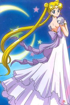 Sailor Moon's Princess Serenity Has a Blue and Black Dress http://anime.about.com/od/Sailor-Moon-Anime/ig/Sailor-Moons-Princess-Serenity-Has-a-Blue-and-Black-Dress/Sailor-Moons-Princess-Serenity-Has-a-Blue-and-Black-Dress.htm