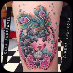 https://www.facebook.com/VorssaInk, http://tattoosbykata.blogspot.fi, #tattoo #tatuointi #katapuupponen #vorssaink #forssa #finland #traditionaltattoo #suomi #oldschool #pinup #20s