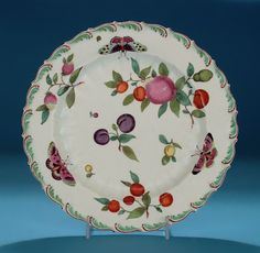 BOW PORCELAIN EUROPEAN DECORATION PLATE (England, c1760) *Click to read about the history and see more detailed images*