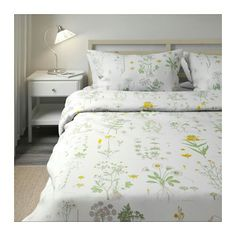 Ikea flower duvet - http://www.ikea.com/gb/en/products/textiles-rugs/bedlinen/strandkrypa-quilt-cover-and-4-pillowcases-floral-patterned-white-art-50282931/