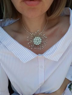 Dandelion necklace - Handmade by Ozana on Facebook