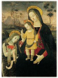 Madonna col Bambino benedicente e San Giovannino, tempera su tavola (1486 circa), Città di Castello Museo del duomo,
