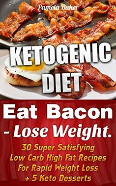 Ketogenic Diet: Eat Bacon - Lose Weight. 30 Super Satisfying Low Carb High Fat Recipes For Rapid Weight Loss + 5 Keto Desserts.: (Ketogenic Diet, Ketogenic ... paleo diet, anti inflammatory diet Book 1) by Pamela Baker