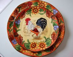 Country Rooster Table Setting: The 137th Tablescape Thursday