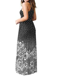 Rambling Popular Womens Sleeveless/Short Sleeve Maxi Dress Floral Print Causal Long Dress with Pocket * You can find out more details at the link of the image. (This is an affiliate link) Best Black, Formal Dresses, Long Dresses, Maxi Dresses, Floral Maxi Dress, Clubwear, Floral Prints, Elegant, Stylish
