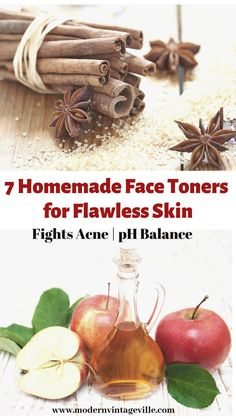 Homemade toners clear your skin, balance pH level, treat acne, whiten and brighten your skin. Homemade Face Toner, Toner For Face, Skin Toner, Homemade Rose Water, Natural Toner, Natural Skin, Green Tea Face, Green Tea Benefits, Eating Organic