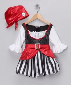 Pirate Girl Dress-Up Set - Toddler & Girls by Let's Play Pretend Boutique on #zulily