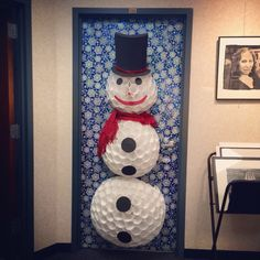 Xmas on pinterest christmas door christmas door for 3d snowman door decoration