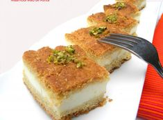 Maamoul Mad Bil Ashta....A specialty that has clotted cream (ashta) incased in a semolina-butter cake, flavored with orange blossom water | Hadia's Lebanese Cuisine