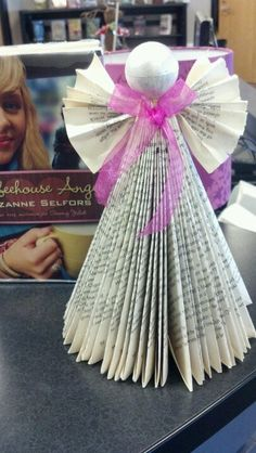 Coffehouse Angel book club craft.  We made a book angel :)