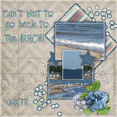 """Beach Beckons - theStudio Gallery LO by Adianne using """"My Country Mini"""" (matches the Collection!  Provided by #ADBDesigns for July Color Challenge at #theStudio"""