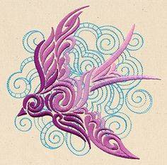 Free Embroidery Design: Dancing on the Breeze - I Sew Free