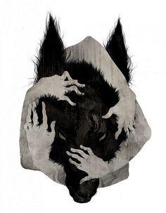 татуировка волк эскизы - Поиск в Google