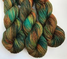 Oxide Hand dyed yarn sock weight Superwash Merino 463