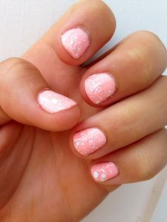 Pink Confetti Nails: Spellbound Pishsalver and Floss Gloss Perf. Shop #Gloss48 for the best indie lacquers.