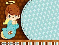 Plantilla invitación bautizo angelito