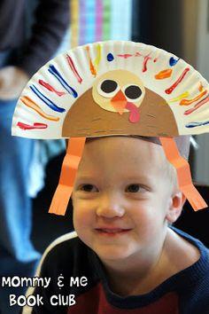 Mommy and Me Book Club: Run Turkey, Run! 4 adorable turkey crafts, yummy snack, and fun game, all based on the book Run, Turkey Run!