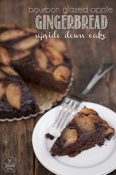 I can't think of a better rustic dessert to serve during the holidays than this delicious Bourbon Glazed Apple Gingerbread Upside Down Cake. {Self Proclaimed Foodie}