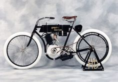 First production bike serial number 1. Henry Meyer of Milwaukee, a schoolyard pal of William S. Harley and Arthur Davidson, buys one of the 1903 models directly from the founders.