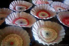 Craft-O-Maniac: Patriotic Garland made from coffee filters