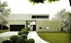 contemporary austrian villa's with an open plan