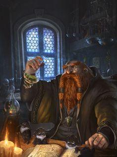 Thergan_the_alchemist, Anthony L.M on ArtStation at https://www.artstation.com/artwork/oBzBJ
