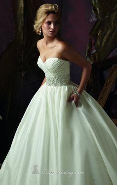 OMG, it has pockets! Taffeta Wedding Gown by Mori Lee.