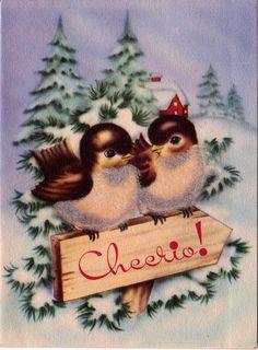 Vintage 1940's Cheerio Birdie Christmas