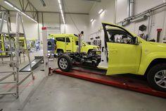 Volkswagen Amarok ambulance production line