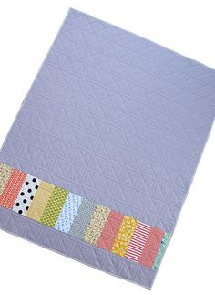 Modern and Colorful Patchwork Quilt Back
