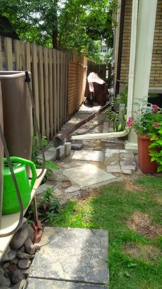 I dried up the ground by using sand and stones to reroute rain water