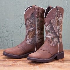 Justin Ladies Natural Camo Tall Gypsy Boots--just got these for Christmas (: