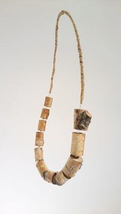 Halsband björk, rot och silver / Necklace birch, root, silver