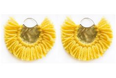 Pavone Earrings-Yellow by RiccardoRodriguez on Etsy