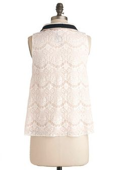 Lace Share Top, #ModCloth