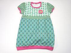 Hängerchen & Tuniken - Tunika Vögelchen grün/rosa Gr. 122 - ein Designerstück von JaClar-mit-Liebe-gemacht bei DaWanda