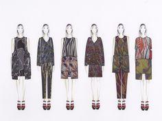 Fashion Sketchbook - fashion illustrations; collection lineup; fashion portfolio // Karina Garcia & Mariana Pazos