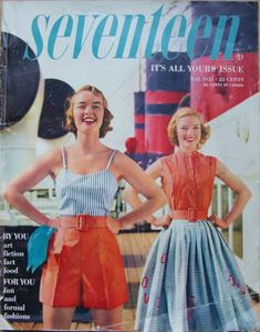 May 1951 cover of Seventeen - with a full, straight-cut, pleated skirt!