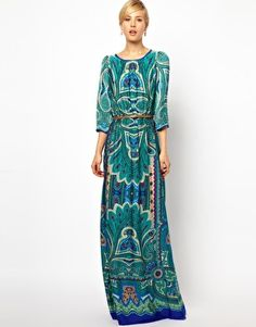 Enlarge Mango Paisley Print Maxi Dress