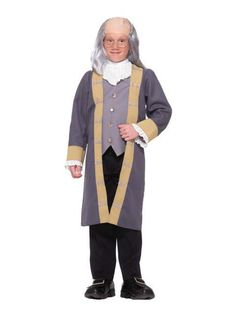 Halloween Boys Classic Ben Franklin Costume