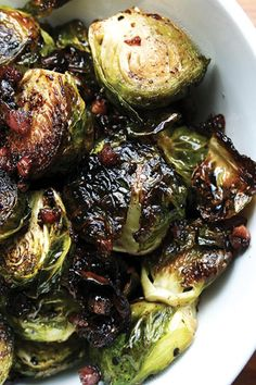 Balsamic Roasted Brussels Sprouts - The 11 Best Ina Garten Recipes of All Time via @PureWowv