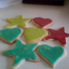 Sugar Cookie Hard-Drying Frosting - Need to remember this for my labware cookies!