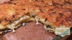 Wild Garlic Kartoffel Käse Auflauf... Es geht auch ohne Fleisch ;)