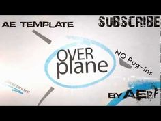 After Effects Template - Over Plane