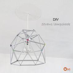 Ohoh Blog - diy and crafts: DIY Straws lampshade