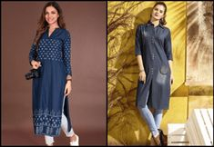 THIS SEASON ADD GRACE TO YOUR INDIAN KURTI DESIGNS · Poseinstyle Jacket Style Kurti, Kurti With Jacket, Denim Kurti, Stylish Kurtis, Grace To You, Special Occasion Outfits, Denim Fashion, Suits For Women, Latest Fashion Trends